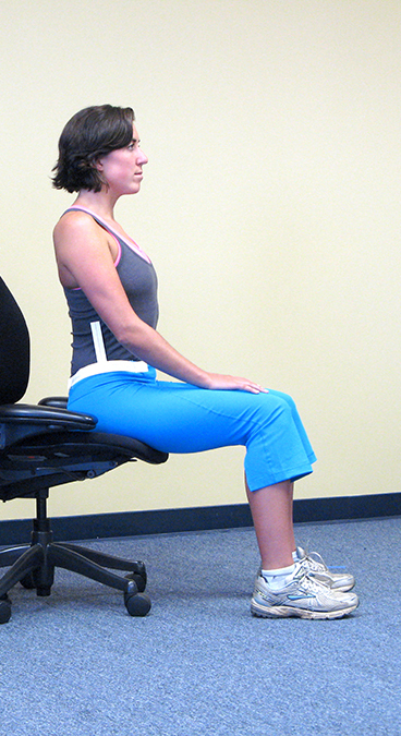 Perched workplace seating can indicate a need for a Functional Job Task Analysis