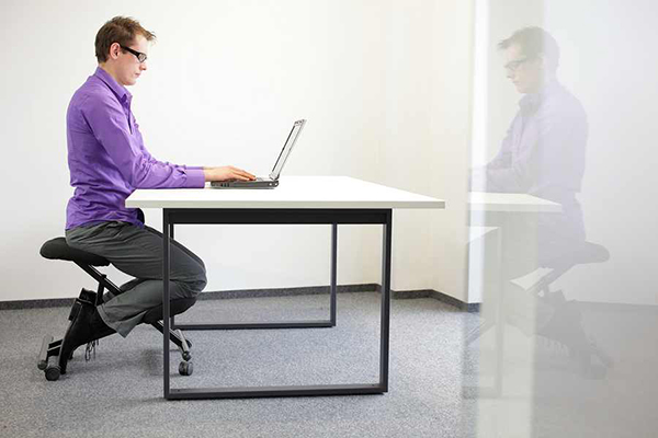 The kneeling chair is an excellent ergonomic seating alternative for forward seating postures.