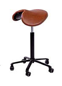 The saddleis an excellent ergonomic seating alternative that allows for more movement in sit-stand postions.
